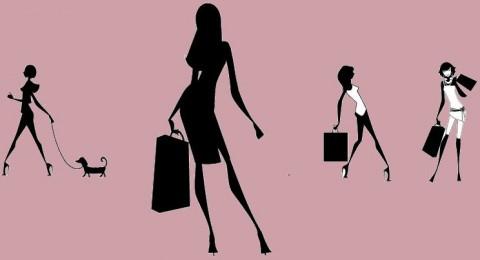 imagen ilustrada de las compradoras online
