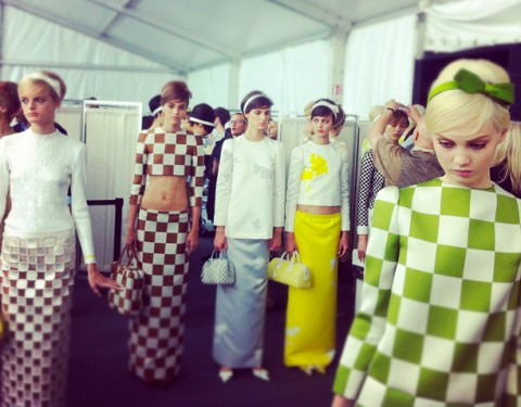 backstage Louis Vuitton SS2013