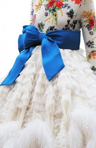 detalle del vestido alta costura de josep font